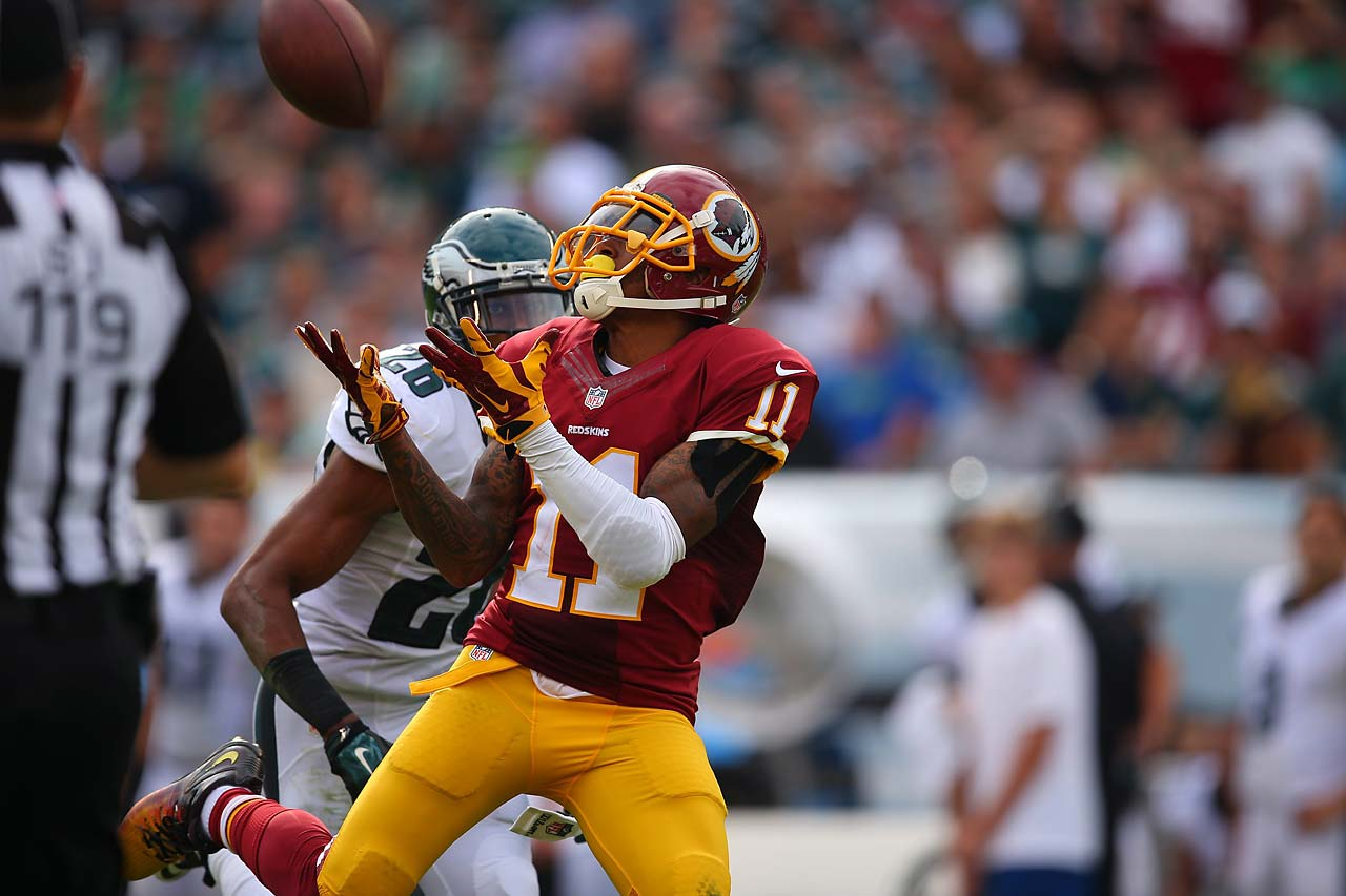 DeSean Jackson caught five passes for 117 yards against the Eagles.