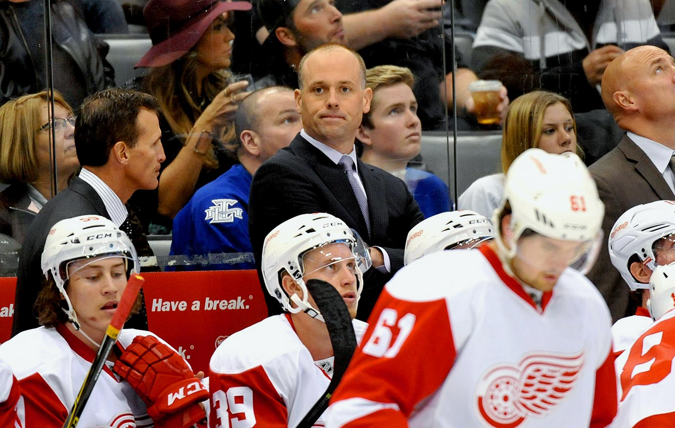 Mike Babcock is gone, replaced behind the bench by the promising but unproven Jeff Blashill. They aren't sure whether veteran Jimmy Howard is their starter or if playoff hero Petr Mrazek is ready for the role. They'll start the season with several key injuries, including the irreplaceable Pavel Datsyuk. And let's face it—that playoff streak has gotta end some time.