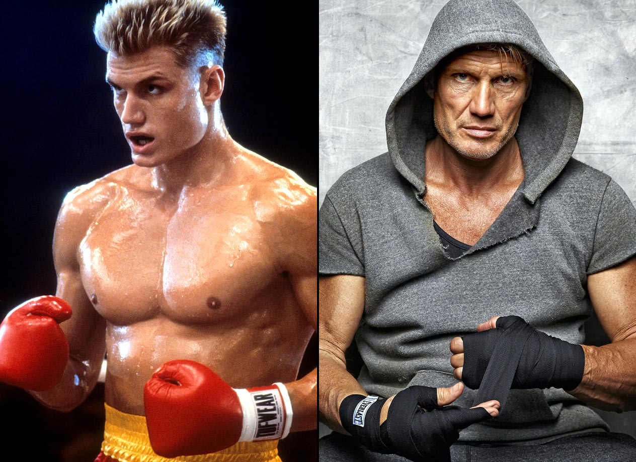 He was the embodiment of cold war villainy as the stone-faced killing machine Ivan Drago in Rocky IV. What few knew back then: The unknown actor from Sweden had a bio that would make his one of the most astonishing WIKI entries in movie history. Lundgren's career was hardly a wrap after his boxing breakout: He's since portrayed He-Man, and a cyborg, and in 2015 he's play a sub commander alongside George Clooney.