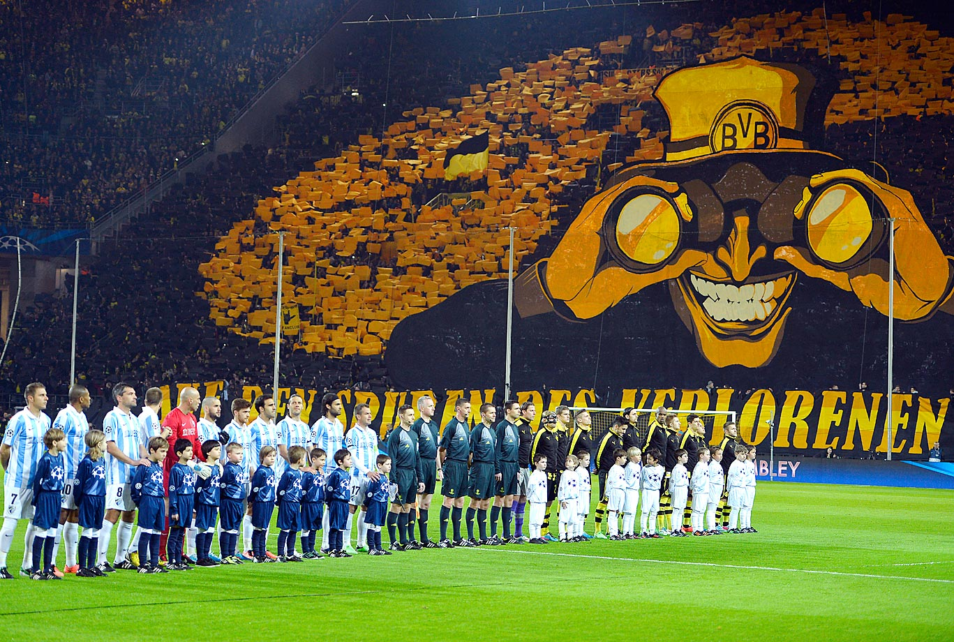 Borussia Dortmund fans put on a remarkable display ahead of a UEFA Champions League quarterfinal second leg match.
