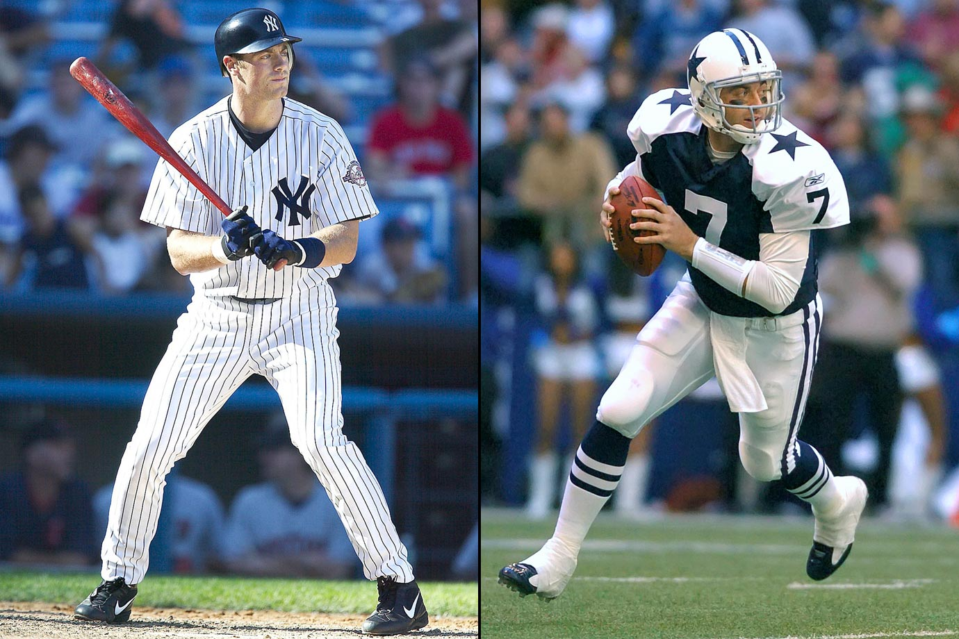 Coming out of college, Drew Henson opted for baseball, signing a contract with the Yankees to forego the NFL. However, after six years in the Yankees' and Reds' organizations with only nine at-bats to show for it, the third baseman jumped back to the NFL as a quarterback for the Dallas Cowboys. Henson saw little more success in the NFL, tossing just 18 pass attempts for the Cowboys, spending a year in NFL Europe and parts of the next two season on the Minnesota Vikings' practice squad. Henson finally caught on with the Detroit Lions in 2008 but attempted just two passes for them while fumbling twice. He is now retired from all professional sports.
