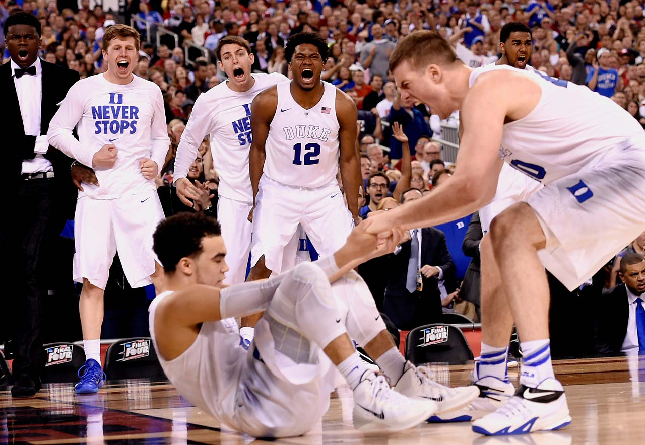 Duke freshmen guards Tyus Jones and Grayson Allen combined for 39 points of their team's 68 points Monday night.
