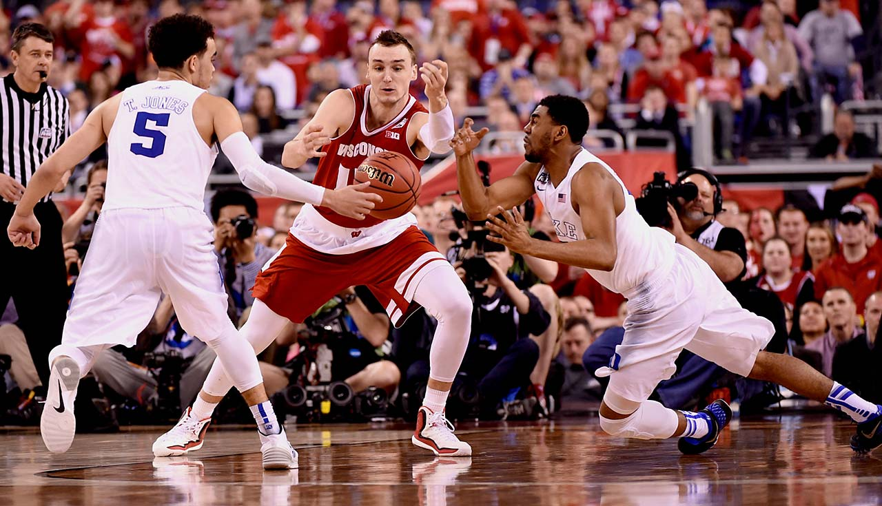 After lapsing on defense periodically throughout the season, Duke stepped up on that end Monday, holding Sam Dekker and Wisconsin to 41 percent shooting.