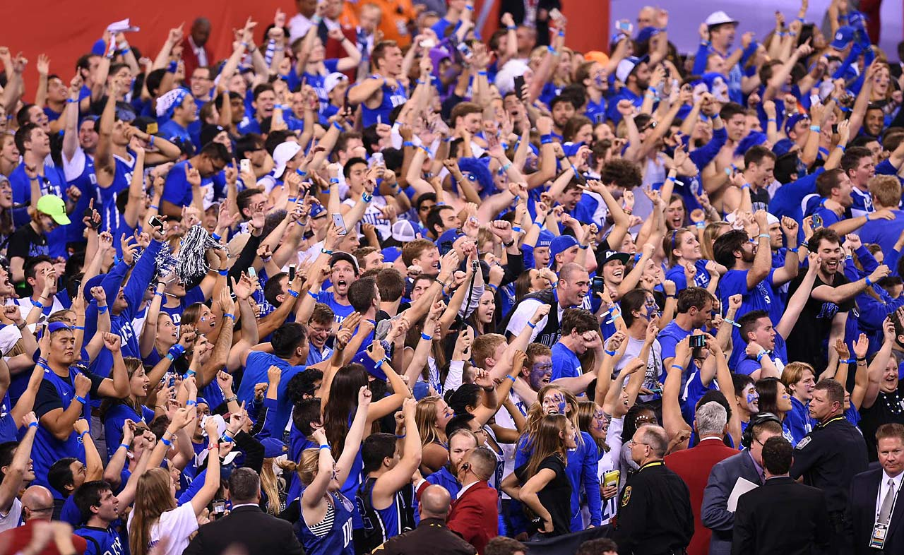 Duke's student section had much to celebrate Monday night, as their team recovered from down 9 points to deliver a national title to Durham.