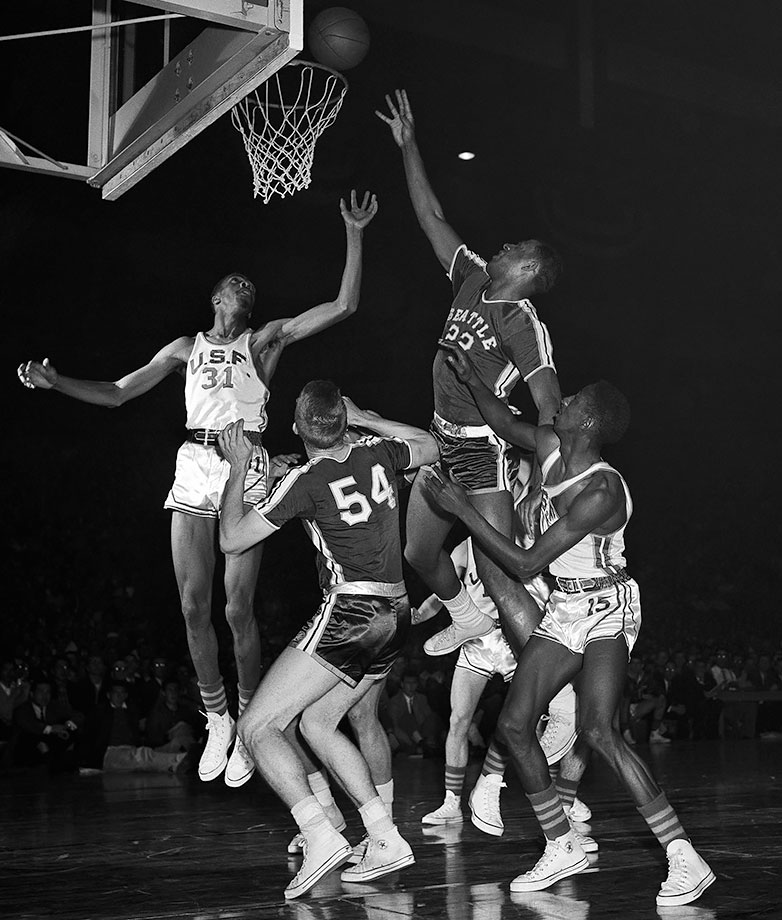 Bad grades in high school forced Baylor to spend a year at the College of Idaho and then another year playing for a Seattle AAU team before enrolling at Seattle University. Baylor made quite an impact in his two years at Seattle, leading the Chieftains to the championship game in 1958. Baylor recorded 25 points and 19 rebounds and was named the Most Outstanding Player of the Final Four despite Seattle's 84-72 loss to Kentucky. Baylor's career average of 31.3 points per game is the 12th highest all-time and his 19.5 rebounds per game rank 11th.