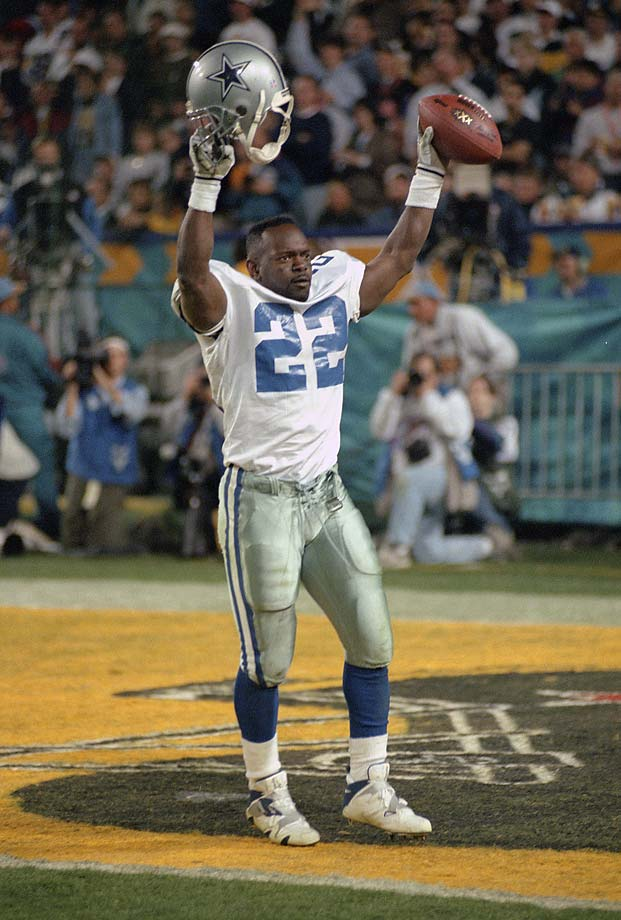 It's an unsportsmanlike conduct penalty for a player to remove his helmet in the field of play or the end zone during a celebration or demonstration, or during a confrontation with a game official or any other player. Emmitt Smith had a penchant for doing as much after he scored a TD.