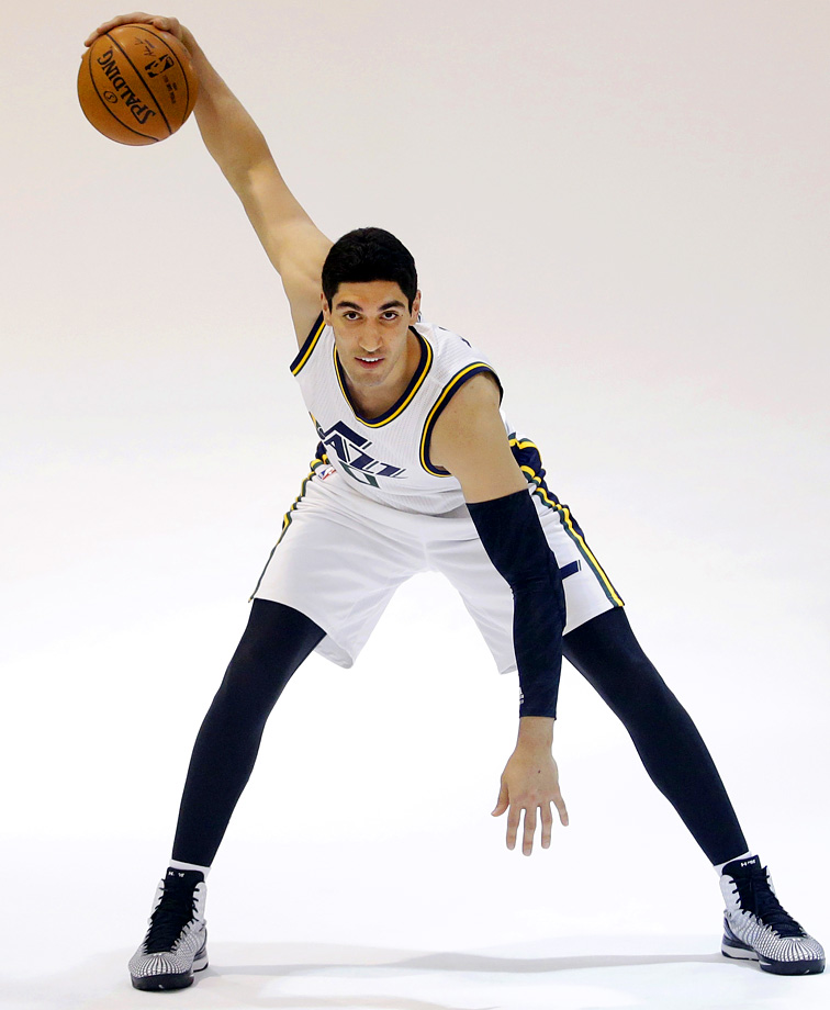 The Jazz hope never to see Enes Kanter strike this pose in an actual game.