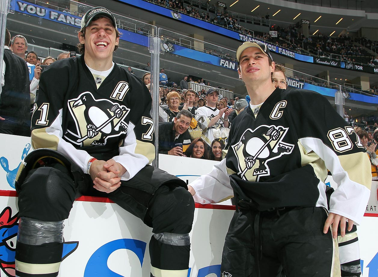 Geno and Sid have been the backbone of the Penguins since the 2006-07 season. Arguably the NHL's best one-two punch at center as well as a formidable offensive threat when paired on the same line, each has won the Hart (Crosby twice) and two scoring titles. Malkin was MVP of Pittsburgh's march to the Stanley Cup in 2009.