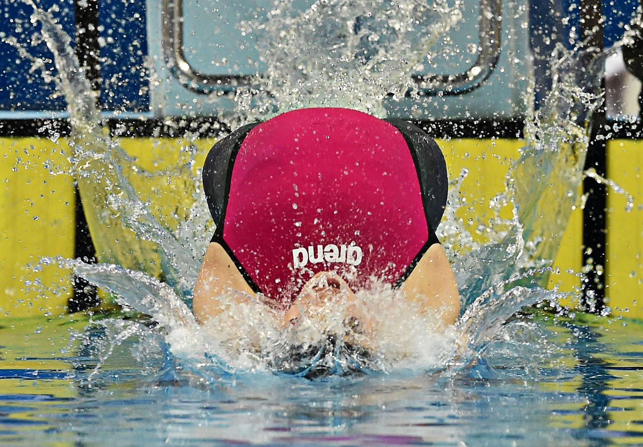Katinka Hosszu of Hungary at the World swimming championships.