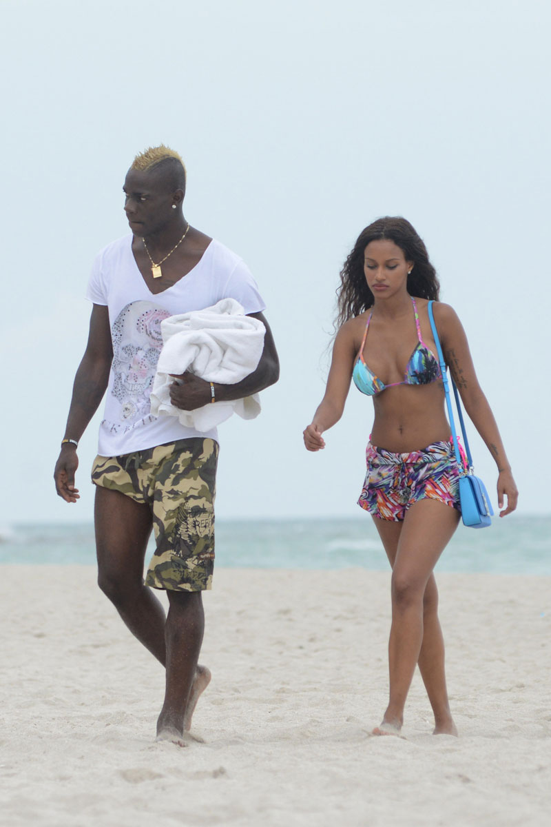 Fanny Neguesha and Mario Balotelli :: Getty Images
