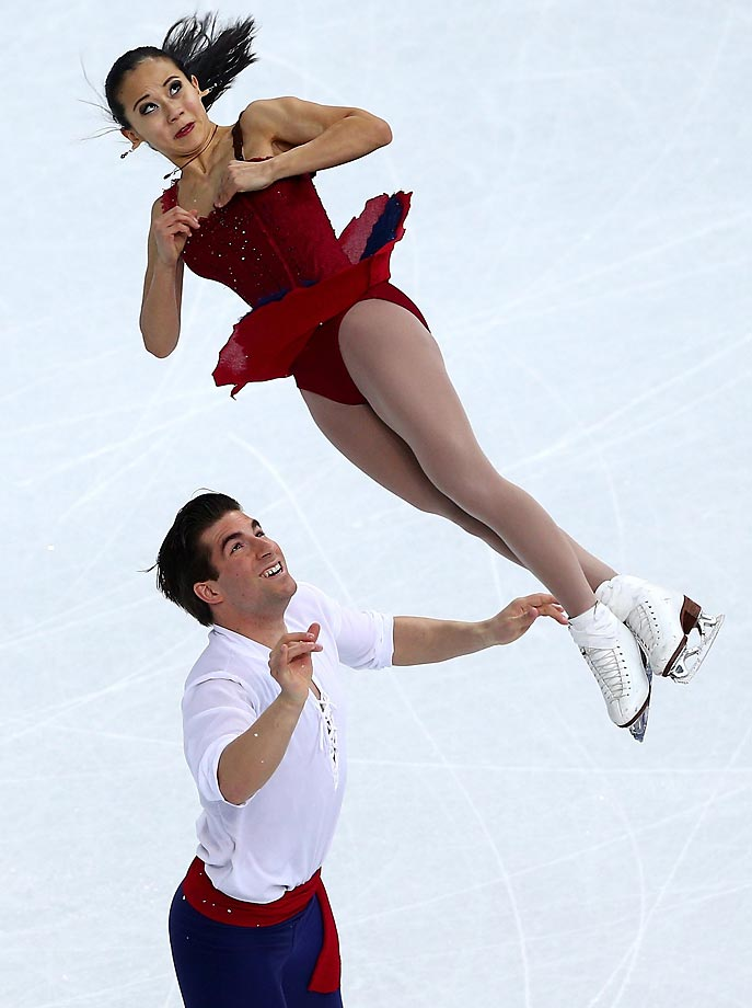 Felicia Zhang and Nathan Bartholomay of the U.S. perform their routine in the Figure Skating Pairs Free Skating.