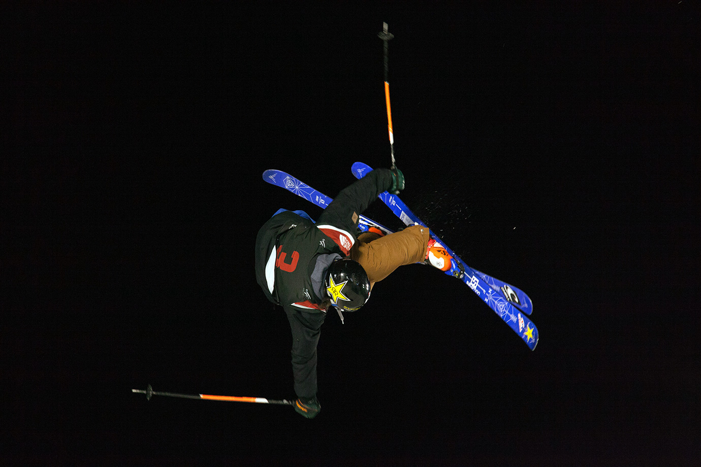 First-place winner Vincent Gagnier during the first of his three high scoring runs.