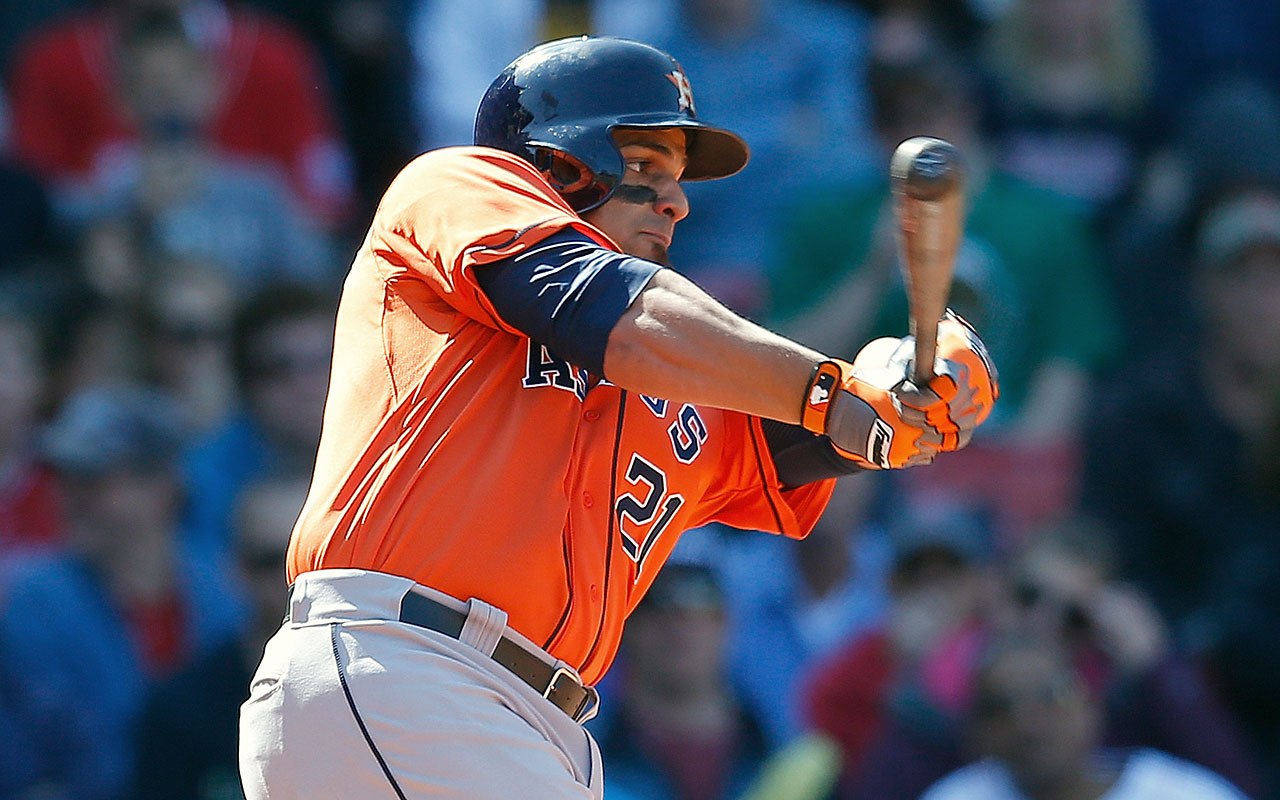 2013 (w/Houston Astros): 33 AB, 1 R, 1 HR, 3 RBI, 0 SB, .182 BA, .229 OBP --- 2014: DNP