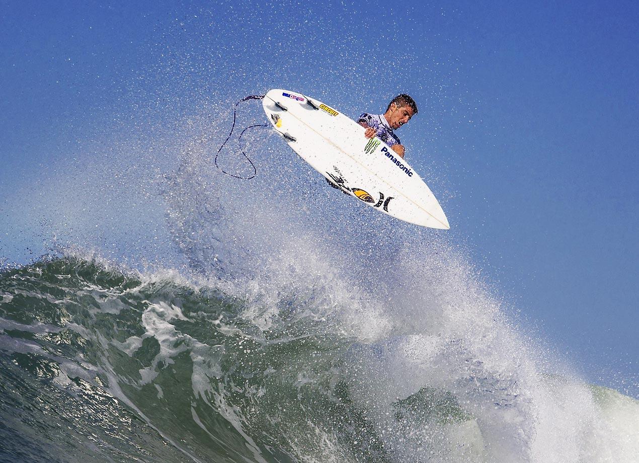 Filipe Toledo of Brazil surfs during Round 1 of the Hurley Pro Trestles in California.
