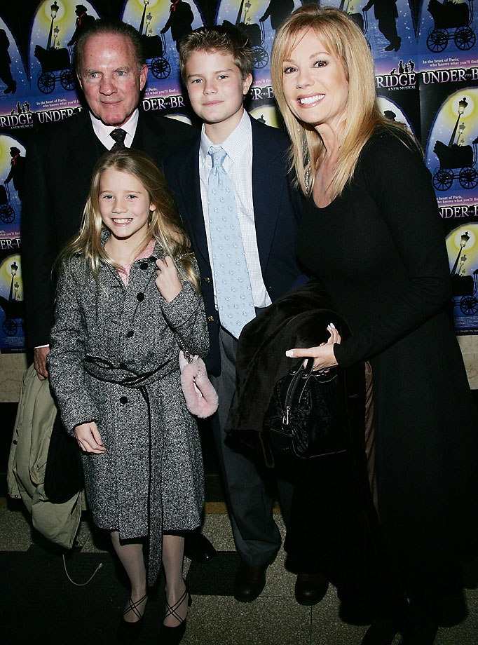 "Frank Gifford with wife Kathie Lee and children Cody and Cassidy at the opening night of her Kathlie Lee's musical ""Under The Bridge"" in January 2005."