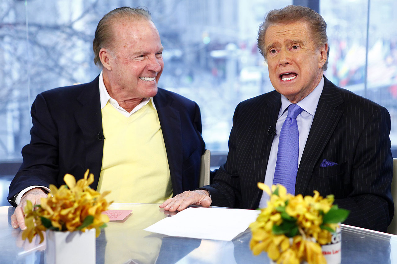 "Frank Gifford and Regis Philbin appear on NBC News' ""Today"" show."