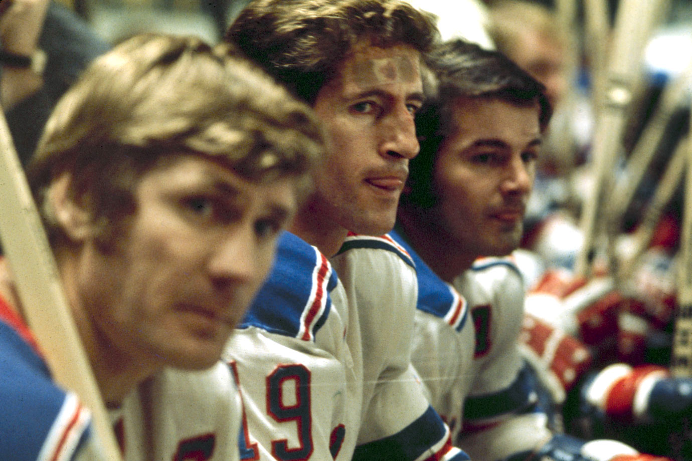 No joke to opponents, Broadway's brightest line of the early 1970s was named for the goal-a-game production of slick playmakers Ratelle and Gilbert and bruising left winger Hadfield.
