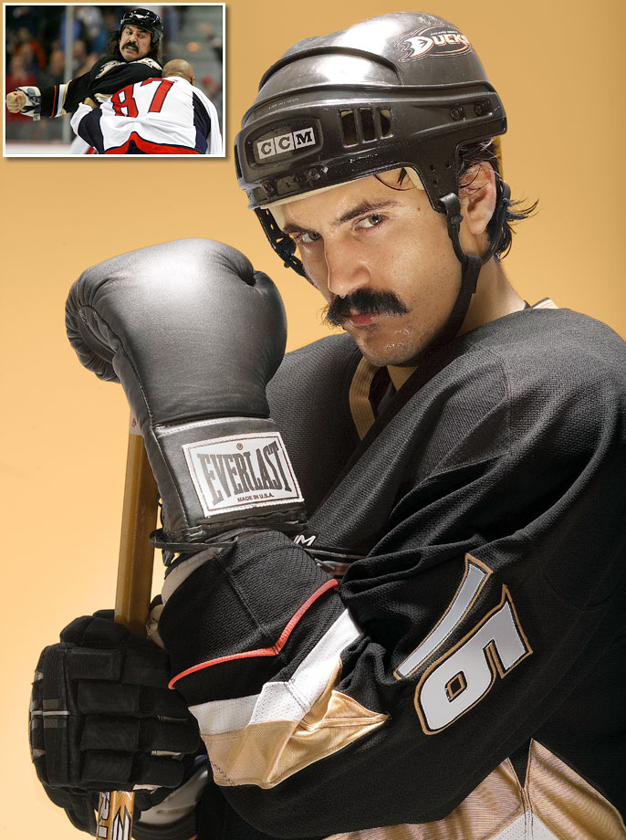 Known for his large mustache, perhaps even more so than his skills as an enforcer, Parros announced his retirement on Dec. 5 after playing nine seasons in the NHL with five teams. He spent six seasons with the Anaheim Ducks and also played for the Los Angeles Kings, Colorado Avalanche, Florida Panthers and Montreal Canadiens.  In 474 career games, he had 18 goals and 18 assists while racking up 1,092 penalty minutes.