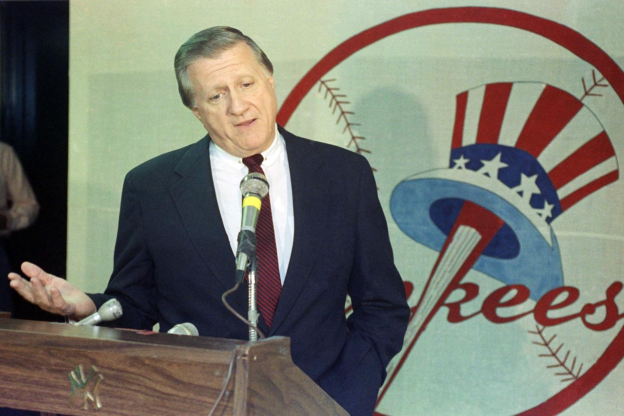 The longtime New York Yankees owner was involved in a number of off-the-field incidents, but none more controversial than his $40,000 payoff to confessed gambler Howie Spira for ''dirt'' on Dave Winfield. Steinbrenner was angry after Winfield filed a lawsuit claiming that a $300,000 donation from the Yankees to The Winfield Organization, which was guaranteed in the outfielder's contract, was never paid.  On July 30, 1990, Commissioner Fay Vincent banned Steinbrenner for life, though he was reinstated three years later. The incident was Steinbrenner's second forced absence from baseball. In 1970, Bowie Kuhn suspended him for two years following his conviction for making illegal political campaign contributions to President Richard Nixon's re-election committee.