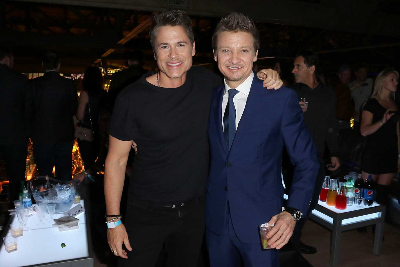 Rob Lowe and Jeremy Renner :: DirecTV and Pepsi Super Saturday Night