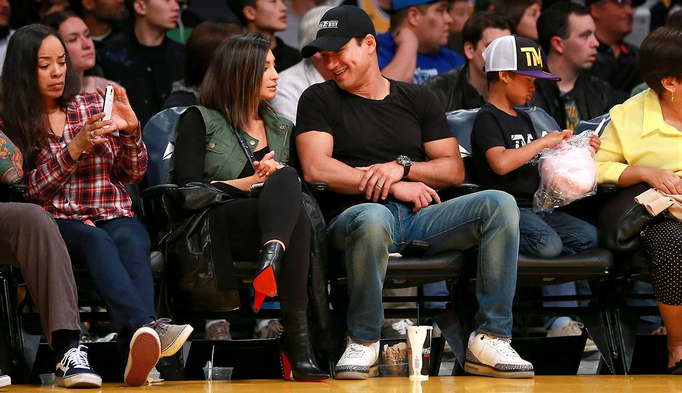 TV personality Mario Lopez at the NBA game between the Orlando Magic and the Los Angeles Lakers at Staples Center.