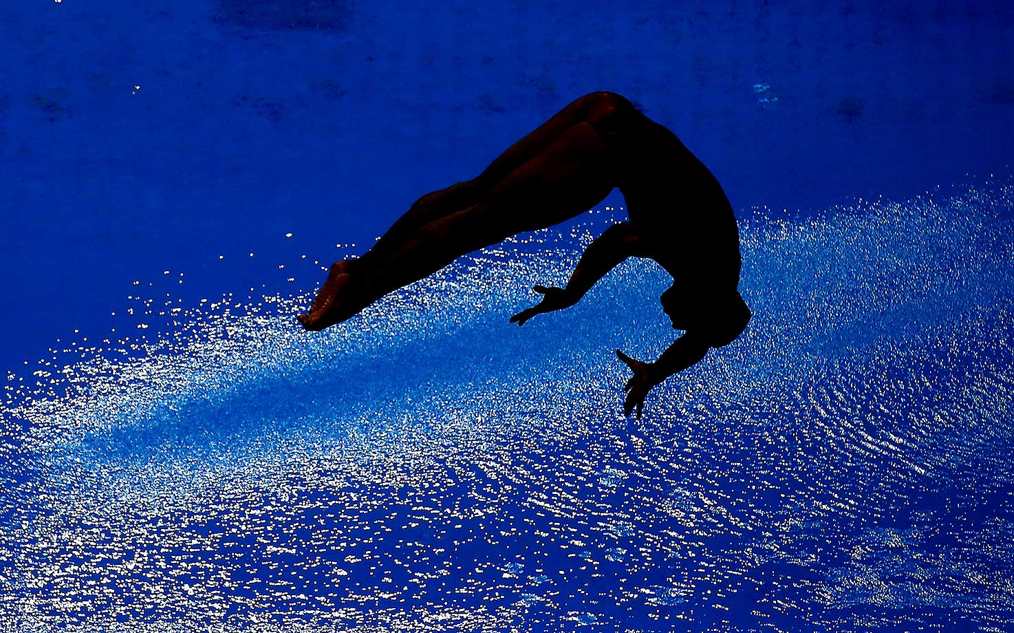 A diver competes in the 3m Synchro Springboard Final during day one of the FINA/NVC Diving World Series 2016.