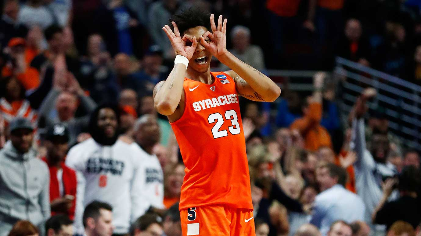 Here are some of the images that caught our eye on a Sunday when Syracuse became the first 10 seed to make it to the Final Four of the NCAA Tournament. The Orange did so partly on the strength of Malachi Richardson (pictured), who scored 21 of his 23 points in the second half against Virginia.