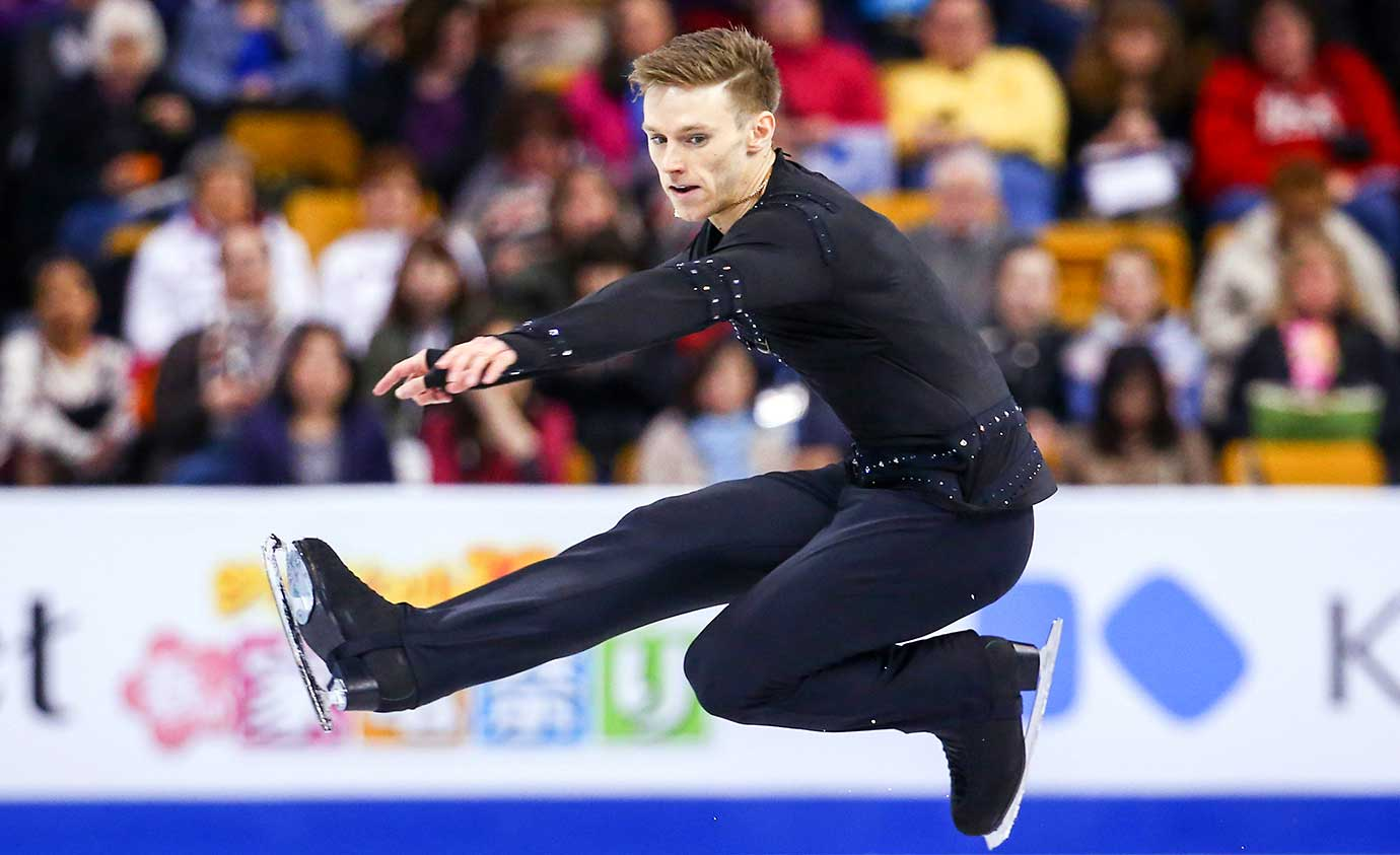 Philip Harris of Great Britain competes during Day 5 of the World Figure Skating Championships.