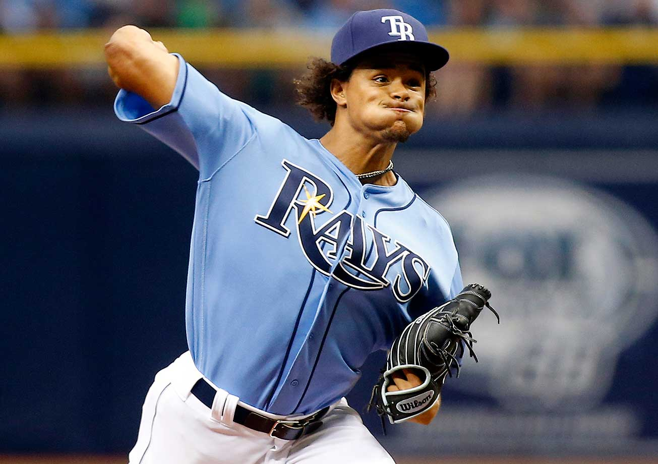 Here are some of the images that caught our eye on Opening Day in baseball and as UConn and Syracuse advanced to the women's national championship basketball game. Chris Archer struck out 12 batters in Tampa Bay's 5-3 loss to Toronto.