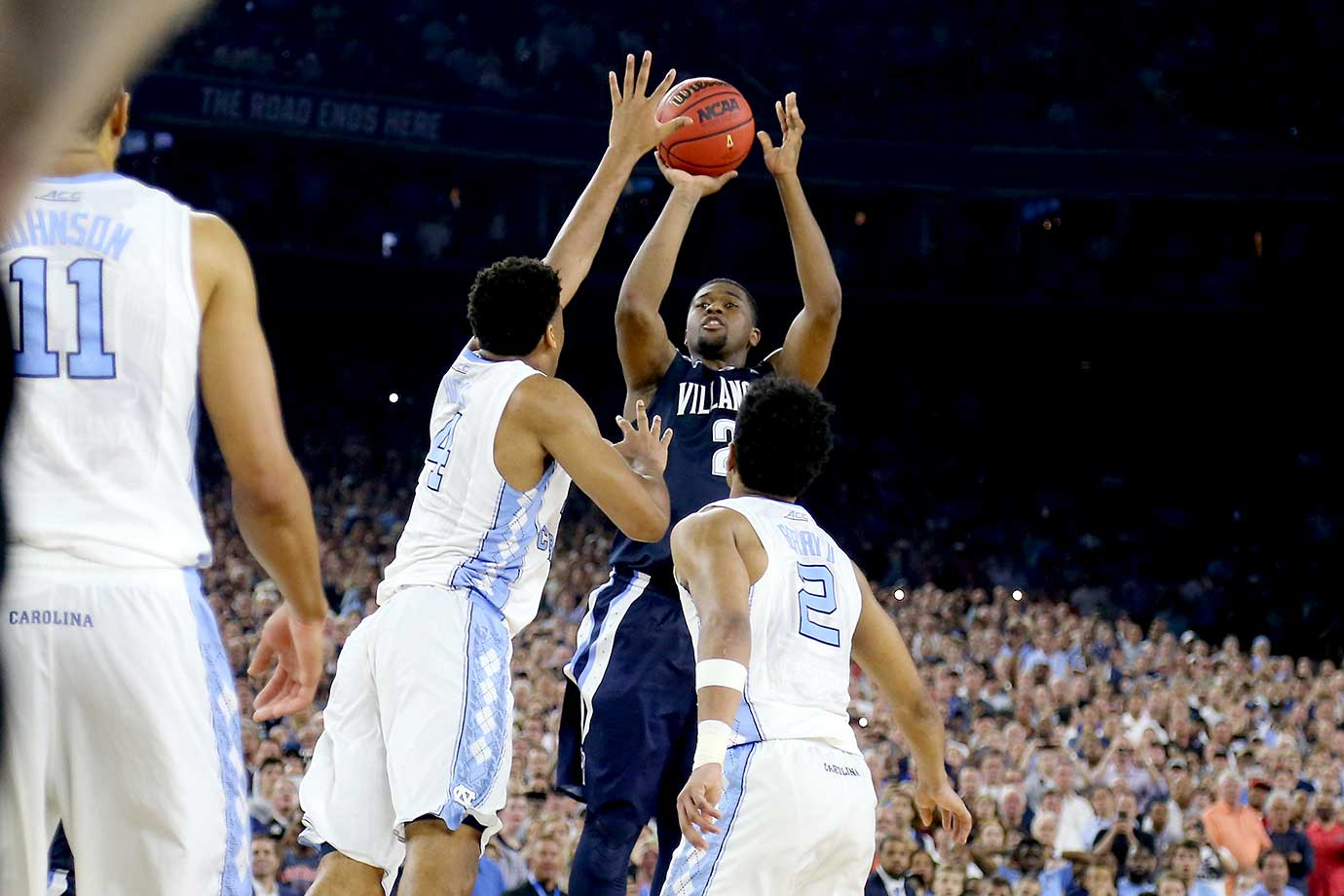 Kris Jenkins said after the game that he thinks all of his shots are going in and that this one was no different.