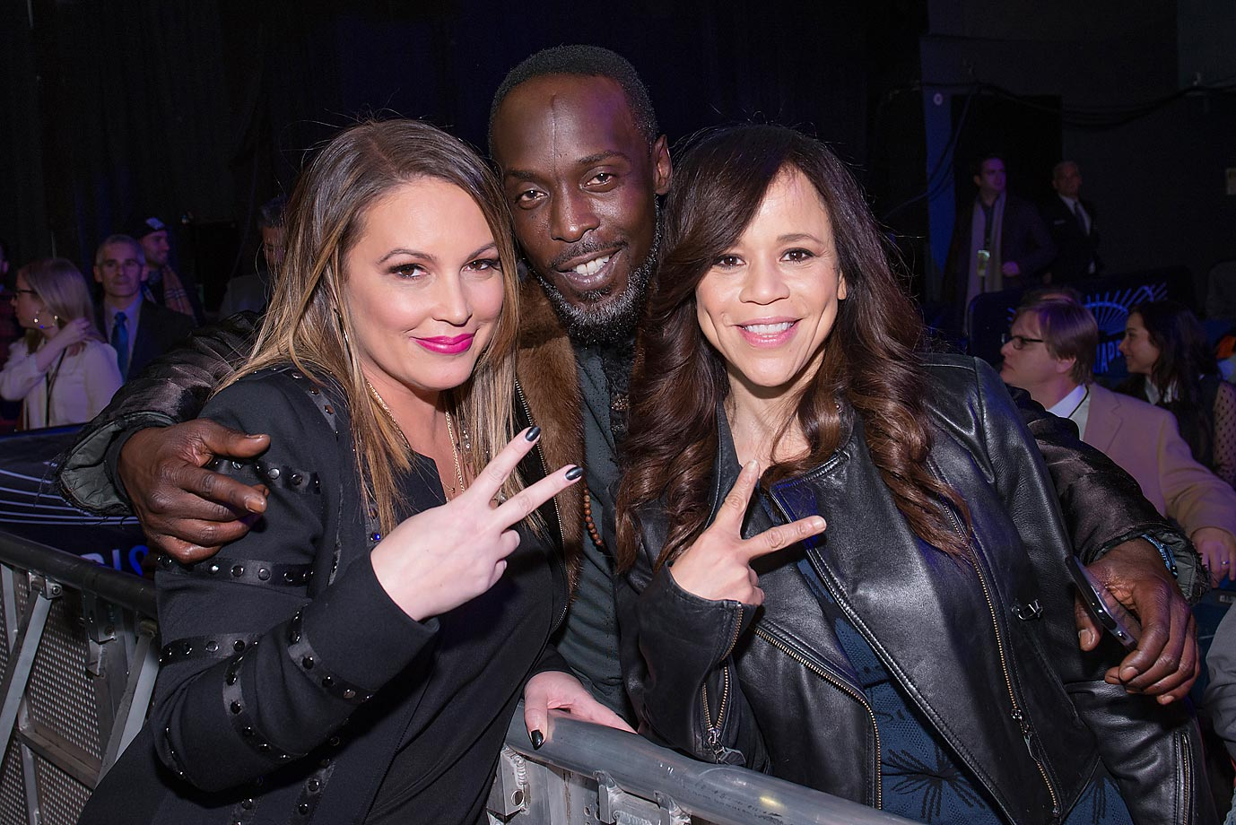Angie Martinez, Michael K. Williams and Rosie Perez attend 2015 Throne Boxing at The Theater at Madison Square Garden.