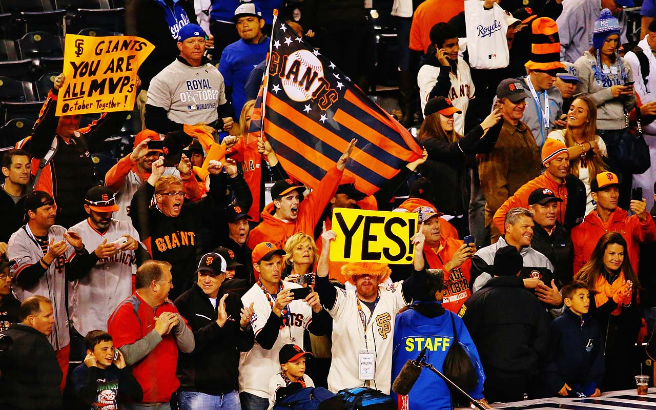 A San Francisco contingent with seats behind the Giants' dugout relished the victory.