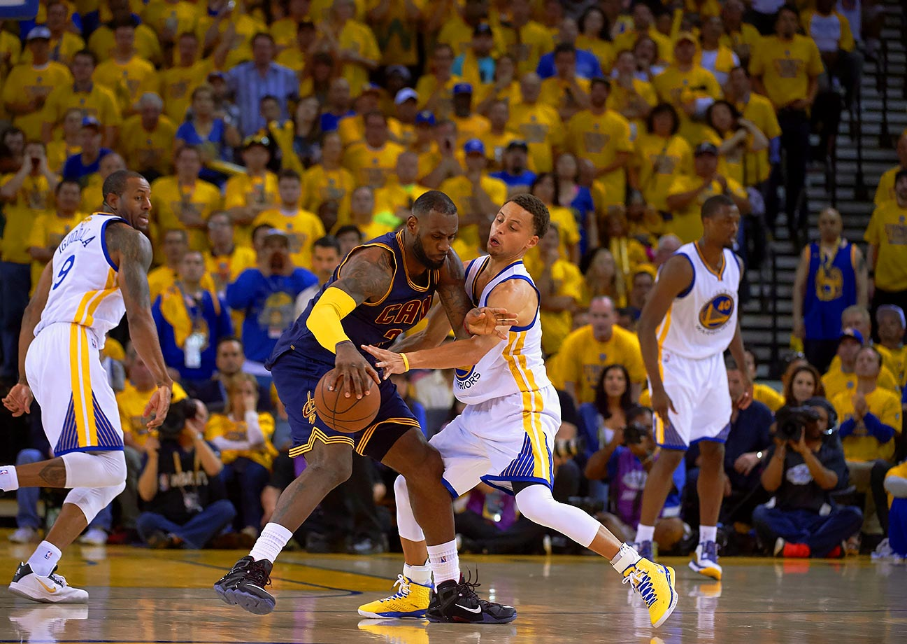 The Warriors were a great team, blah blah blah, they almost lost to a team whose offensive strategy in the Finals was to hold the ball for 23 seconds and then let their one good player shoot.