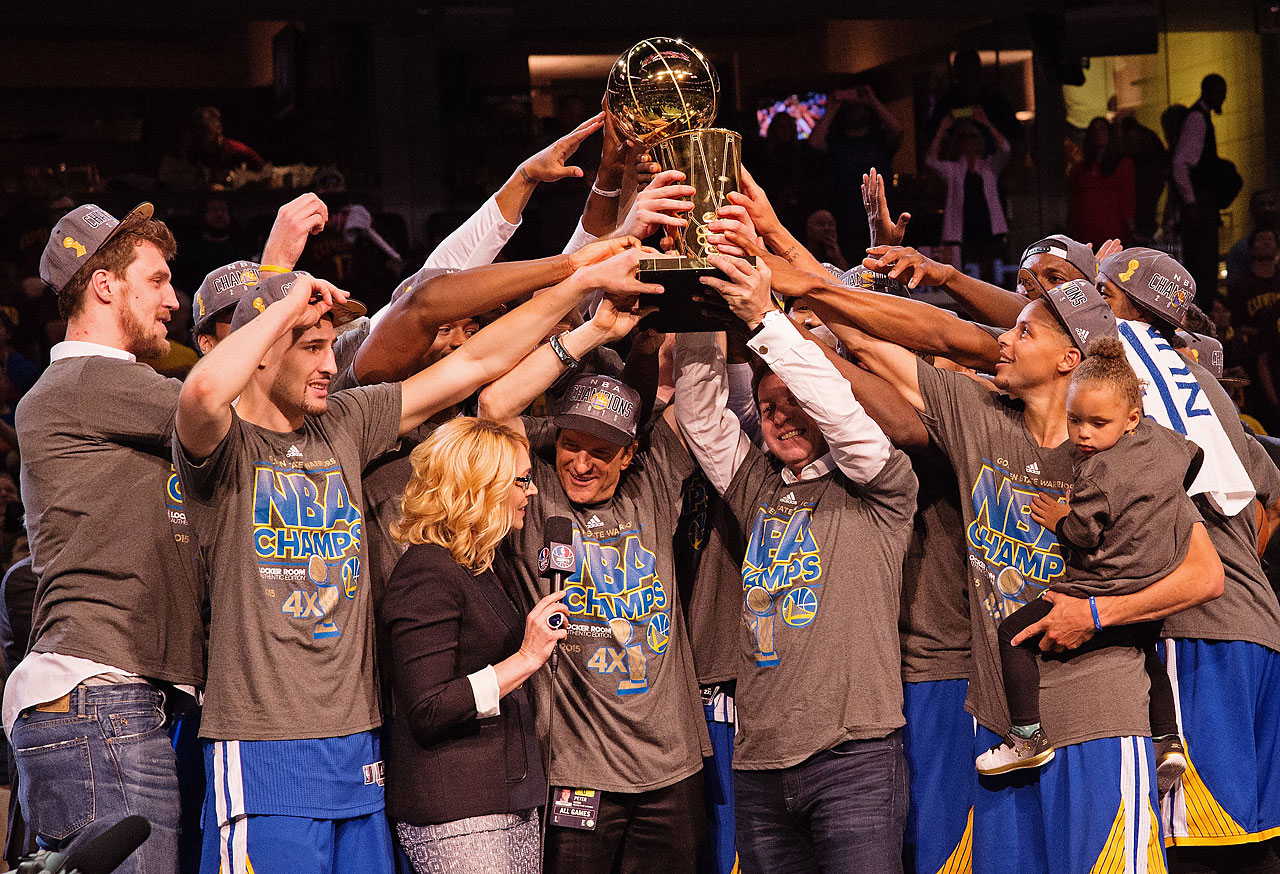 Golden State trailed by two points early in the third quarter but quieted the crowd in Cleveland, which has seen the city's three pro teams go a combined 144 seasons without one of them winning a championship.