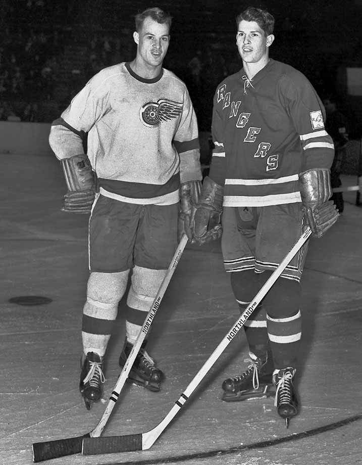 The legendary Mr. Hockey's storied pro career spanned 2,186 games, 975 goals, 2,358 points, six Art Ross and six Hart trophies, four Stanley Cups, two Avco World Cups, two leagues (NHL, WHA) and 32 years. Younger brother Vic's consisted of parts of three seasons (33 games, 1950-55) as a winger for the Rangers.