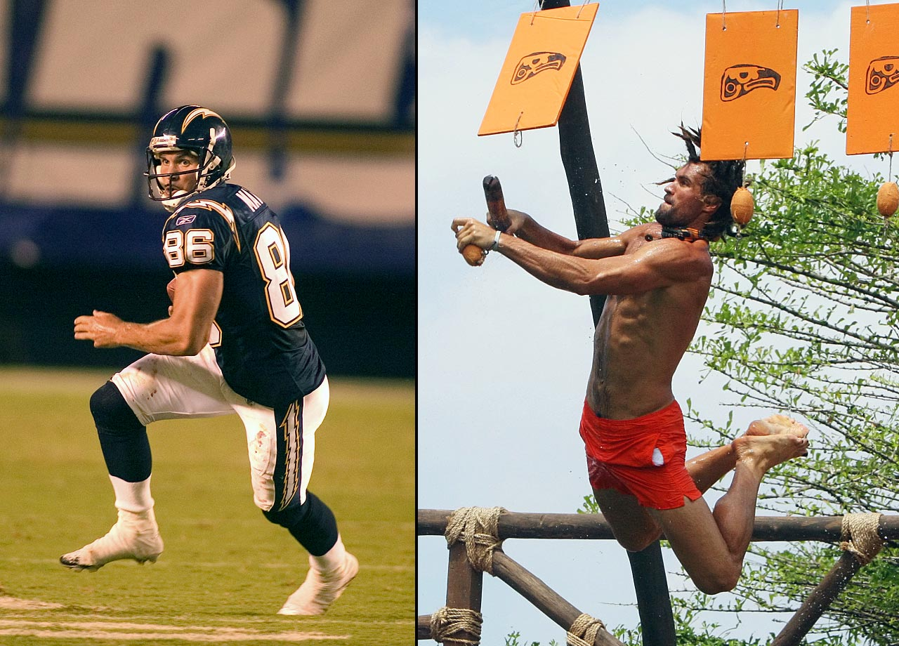 """The former NFL wide receiver finished in 8th place on """"Survivor: Redemption Island."""""""