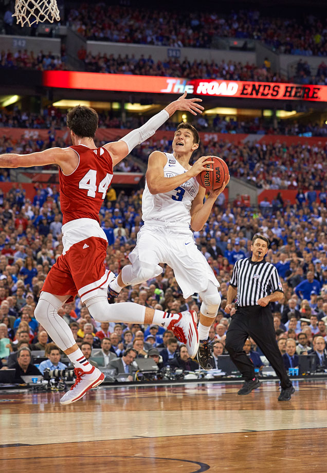 Duke's forgotten freshman Grayson Allen jumped off the bench and became Duke's national championship hero.