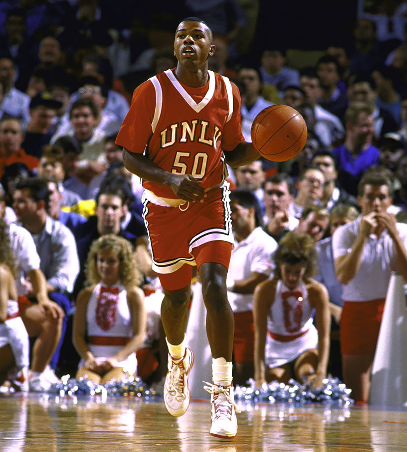Though he only played three years at UNLV after transferring from the University of Portland, Anthony remains the school's career leader in assists and steals. His value to the 1990 NCAA champs and 1991 semifinalists was measured in far more than numbers. Anthony was the psychological, spiritual and vocal leader of one of the most dominant teams since the Wooden era. His value to this group was best demonstrated by how they played without him. The '91 Rebels lost in the Final Four to Duke because Anthony fouled out with a few minutes left. When he went out, UNLV fell apart him and lost 79-77.