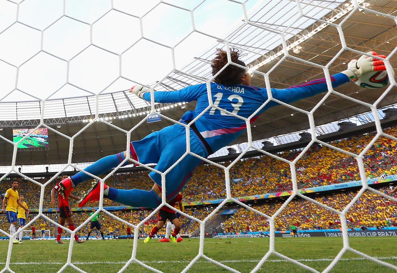 The Mexico goalkeeper's contract at Ajaccio expired at the end of last season, but you suspect he won't be without a club for long after his heroics against Brazil, when he made a series of fine blocks, the most eye-catching of which was his full-length dive to his right to claw away a Neymar header. Nigeria's Vincent Enyeama can probably feel slightly unfortunate to have missed out.