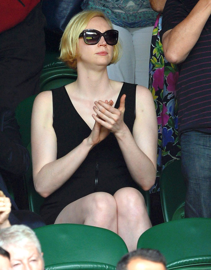 Gwendoline Christie attends the Rafael Nadal vs. Martin Klizan match during day two of Wimbledon on June 24, 2014 in London.
