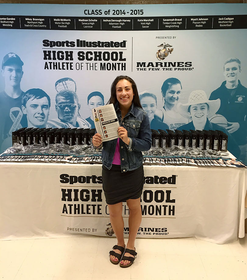 Sports Illustrated traveled to Bingham High in Utah on Wednesday, March 9, to recognize February selection Sophia Foresta​ as the SI High School Athlete of the Month, presented by the U.S. Marine Corps.