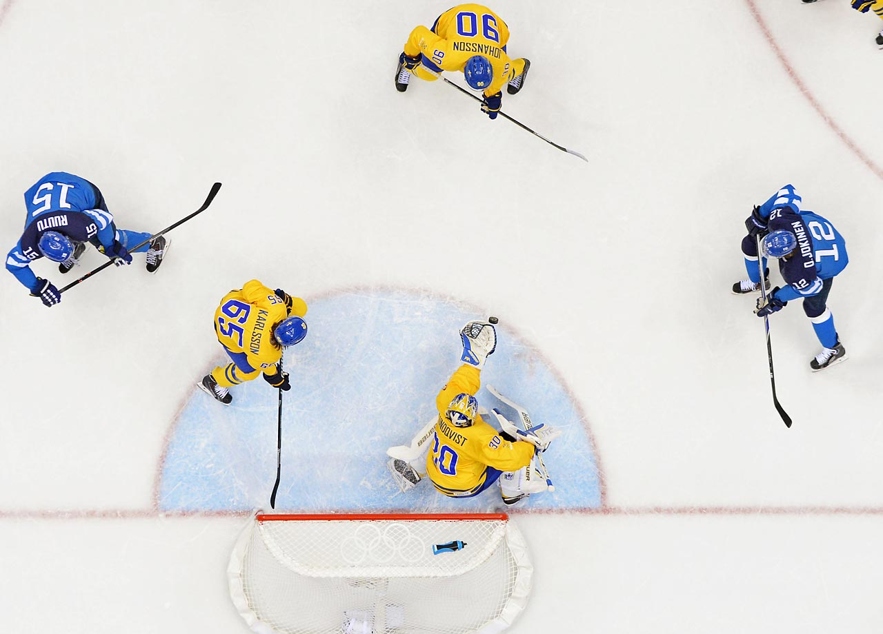 Henrik Lundqvist of Sweden stopped 25 shots, lifting Sweden over Finland 2-1 and into the gold-medal game.
