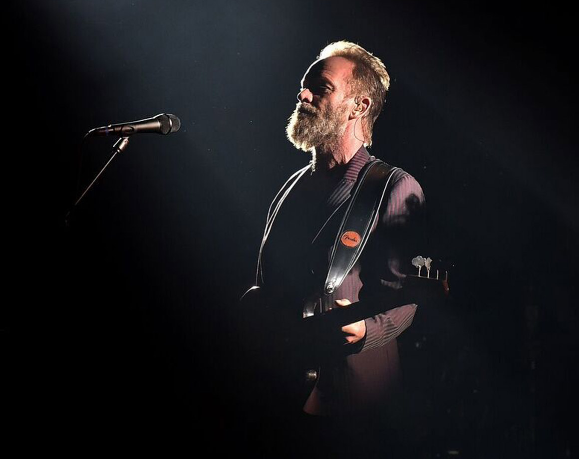 Watching Sting channel his inner Revenant during the halftime show.
