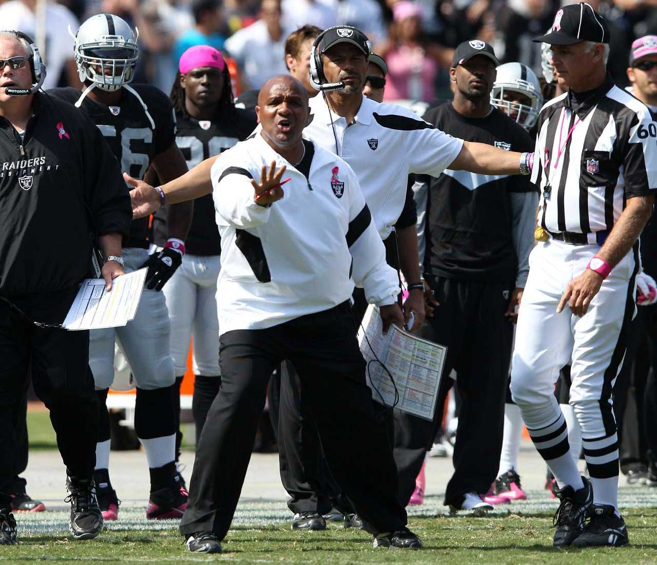 Hue Jackson's first year as a head coach at any level ended with the Raiders missing the playoffs at 8-8 and having mortgaged their future in the process by giving up a king's ransom in a trade for quarterback Carson Palmer.