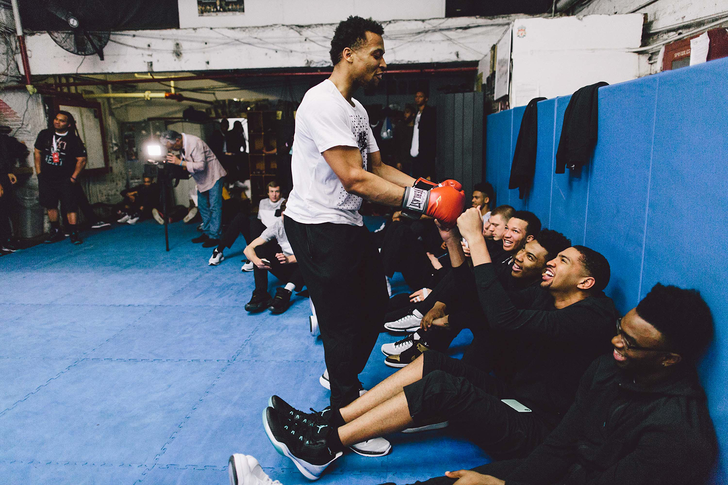 After practice the team went down to Church Street Boxing gym and learned some techniques from elite trainers.