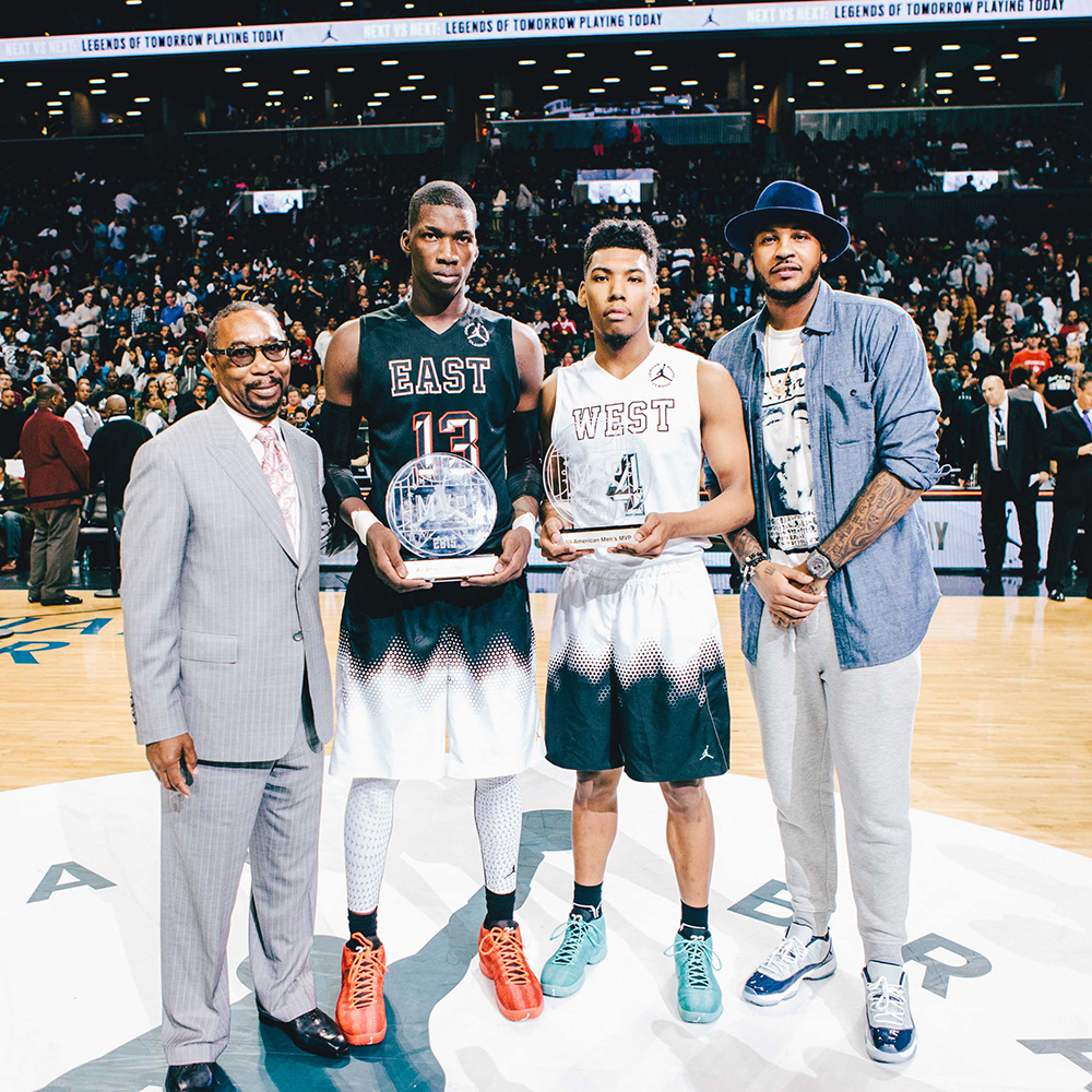 The co-MVPs of the game were uncommitted big Cheick Diallo and Arizona signee and guard Allonzo Trier who had 26 points on 8-10 shooting for the western squad.