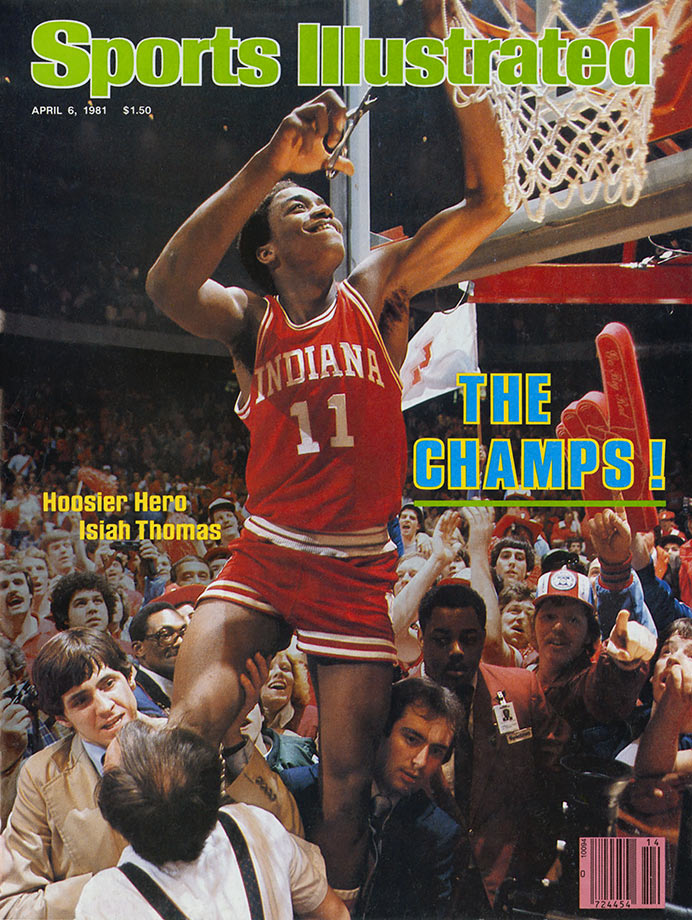 The Windy City native became the toast of Bloomington as he led Indiana to the 1981 championship as a sophomore. Hoosiers coach Bob Knight made Thomas a captain, and Thomas lived up to that billing by setting school records with 5.8 assists per game and 74 steals. He scored 23 points, 19 in the second half, during a 63-50 victory over North Carolina in the championship game. In an era in which very few underclassmen tried to turn pro, Thomas left school that spring and was selected by the Detroit Pistons with the No. 2 pick.
