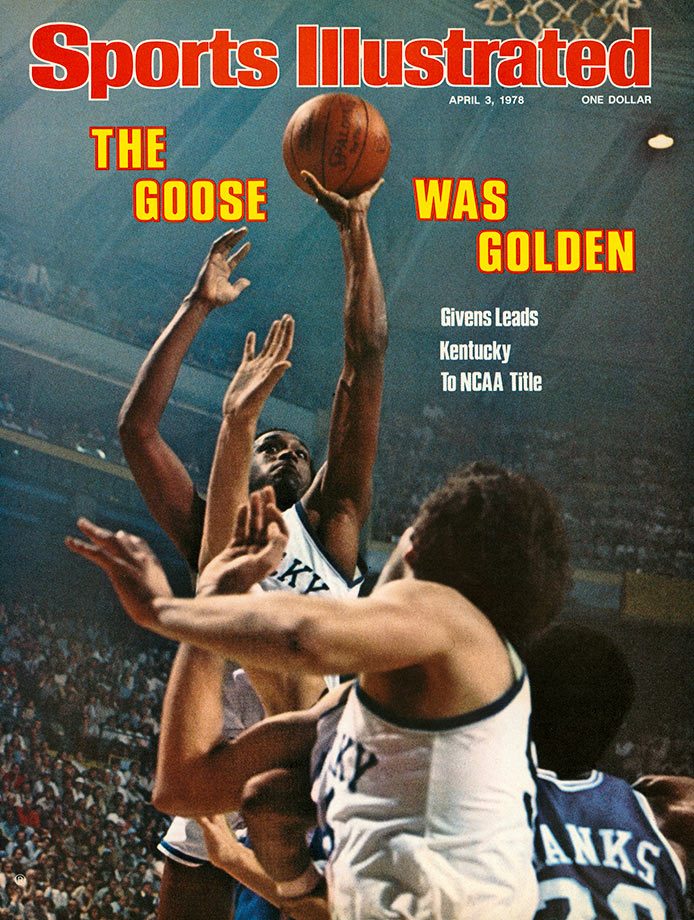 "Known as ""Goose"", Givens, turned in his best performance in the biggest game of his career as he carried the Wildcats to the national championship in 1978. Kentucky beat Duke 94-88, ridding Givens' 41-point, eight-rebound performance to victory. He was named the Most Outstanding Player and won the Helms Foundation Player of the Year. Givens scored more than 18 points per game in three of four seasons and his 2,038 career points are the third most in Kentucky history."