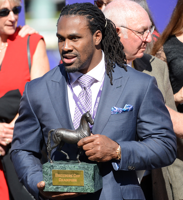 Falcons running back Steven Jackson savored his inside access at the 2012 Breeders' Cup Classic