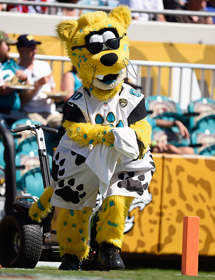 With such a tough, villainous name – Jaxson sure looks like a dork even other mascots would mock. Kids probably love 'em, though, and he's well-known for crazy stunts and Jackass-ery. We do love the fact his antics forced the NFL to change their mascot rules in 1998.